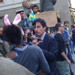 We saw John Oliver hisown self filming a segment