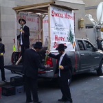 Some Jews were there with a Sukkah Mobile - I've never seen Jews prosthelytize before.